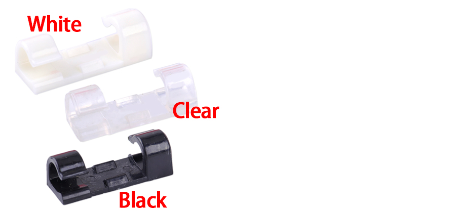 20pcs Self Adhesive Cord Cable Holder Clamp Clip Table