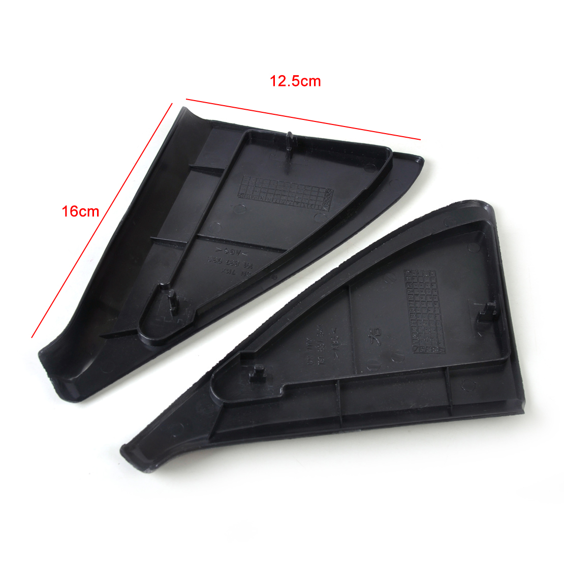 2pcs Door Side Mirror Cover Trim Panel Mount For 1985 1992