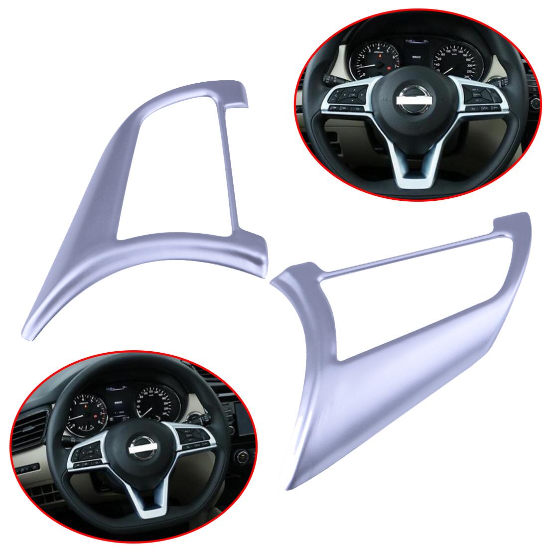 2Pcs Chrome Steering Wheel Button Trim For NISSAN ROGUE SPORT 2017-18 Advantage