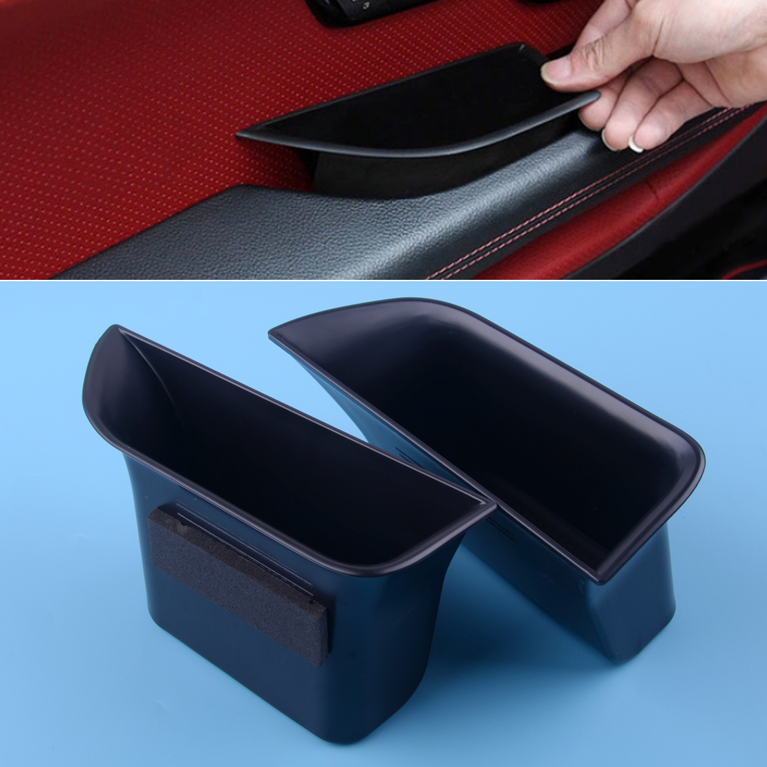 Storage Box Door Fit for Jaguar XF 2008-2015 Secondary Tray Case 2Pcs Container